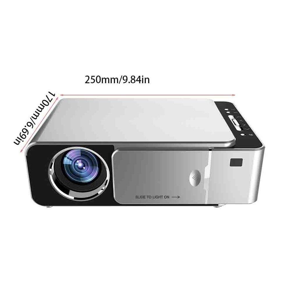 UNIC W80 светодиодный 4K 1080P проектор Full HD HDMI USB Mini Android Bluetooth lcd домашний кинотеатр медиаплеер HIFI 16:9 обычный - 6