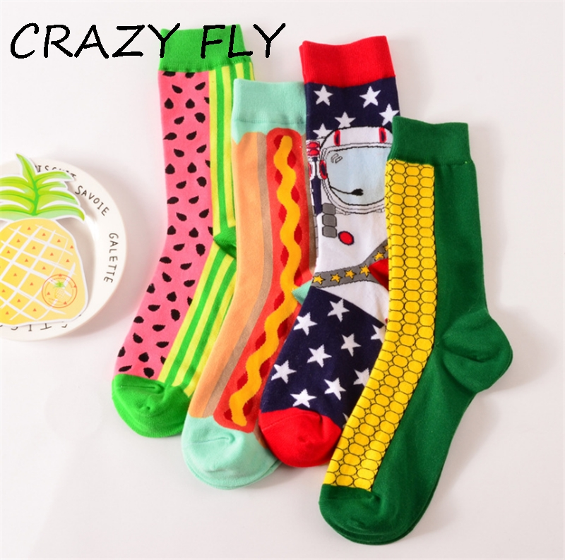 CRAZY FLY Fashion Colorful Happy Socks Hs