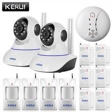 KERUI Wireless WiFi IR Cut IP Camera HD 1MP CCTV IP CMOS security camera Alarm PT, Retail box. For wifi and GSM sms alarm system