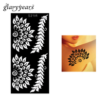 1 Piece Hollow Henna Tattoo Stencil Airbrush Painting Flowers Branch Female Arm Body Art Henna Tattoo Template ity S2106