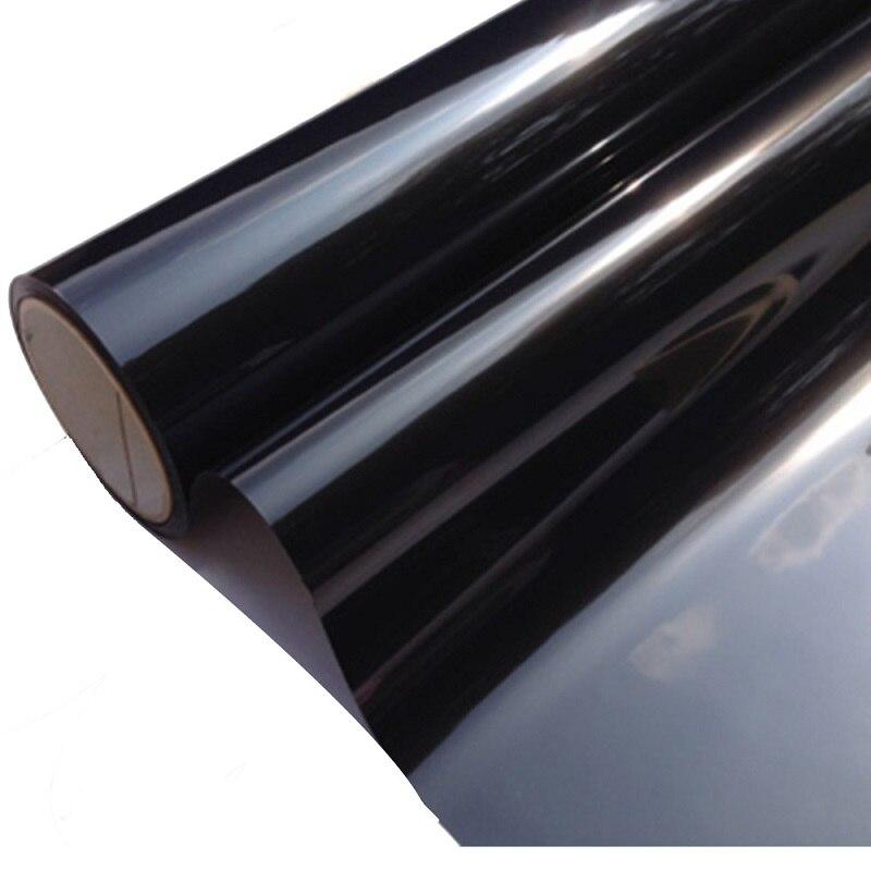 Film décoratif noir foncé pour vitres de voiture | 50x300cm, VLT 5% 2PLY, pour voitures et maisons automobiles, Film décoratif discret