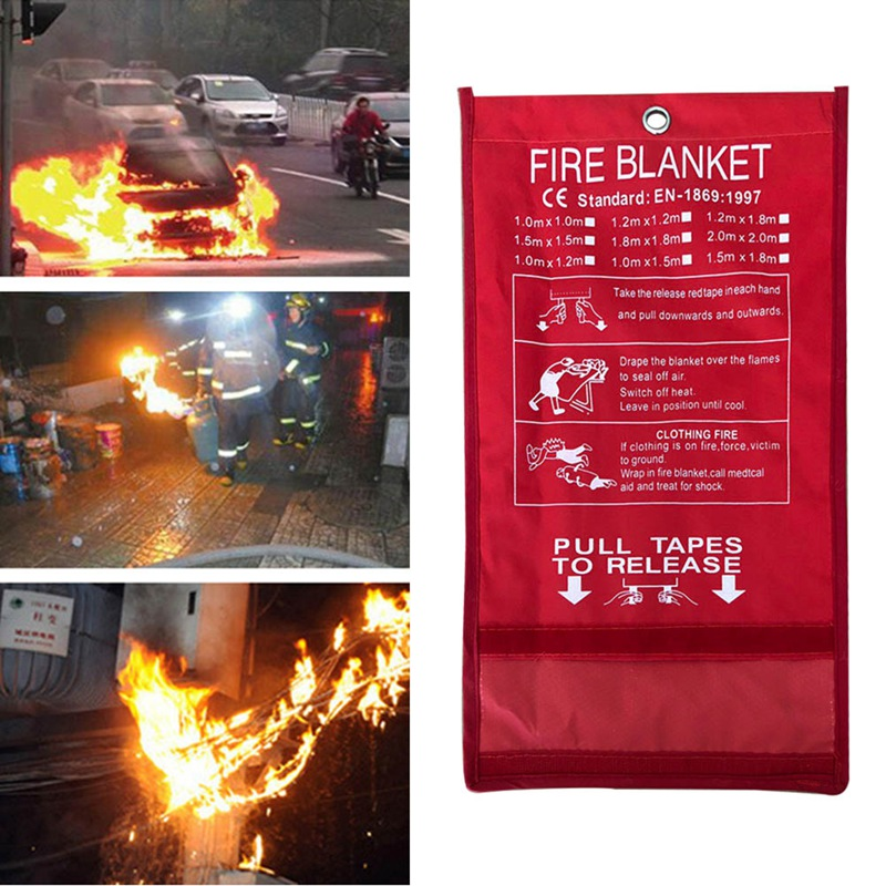 1MX1M Fire Blanket Emergency Survival Fire Shelter Safety Protector Fire Extinguishers Tent fire granny 2018 11 20t20 00