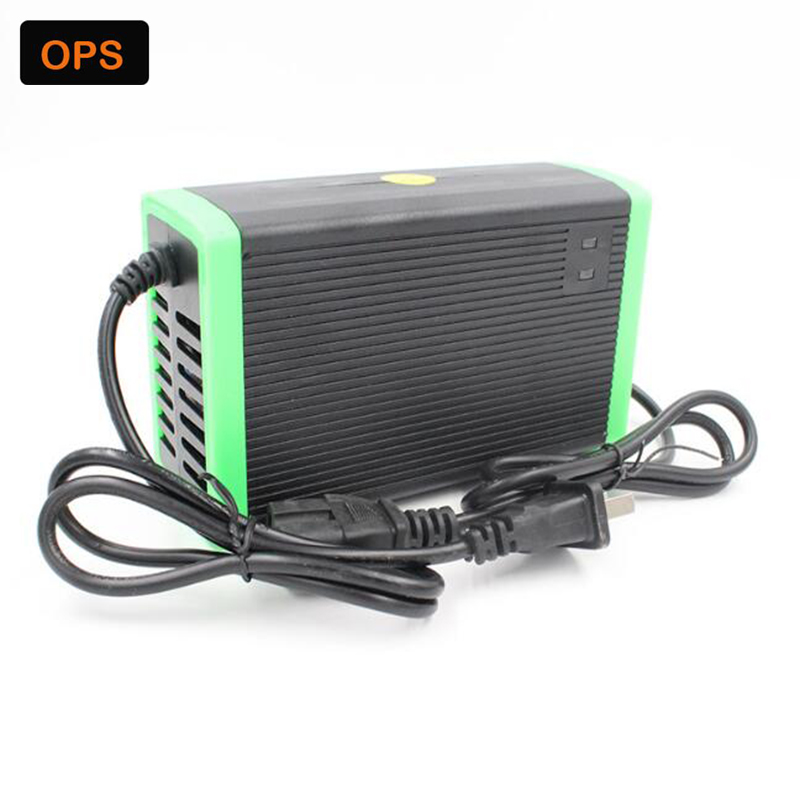 E-bike 60V 12AH/20AH Lead acid battery charger LED electric cart desulfuration Acculader voor 220V input