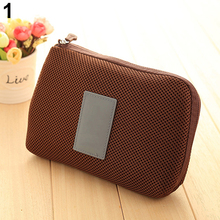 New arrival! Portable Shockproof Nylon Gadget Devices USB Cable Organizer Case Storage Bag