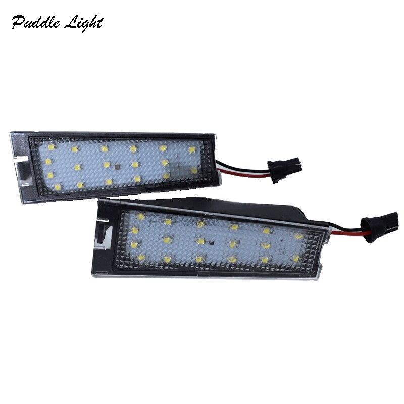 2 x weiß LED Lizenz Nummer Platte Lichter Fehler Kostenloser Für Cadillac CTS 2008-2010 Auto Ersatz