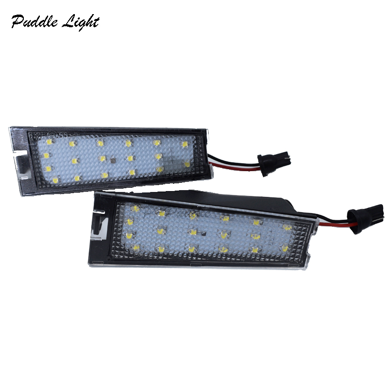 2 x white LED License Number Plate Lights Error Free For Cadillac CTS 2008-2010 Auto Replacement