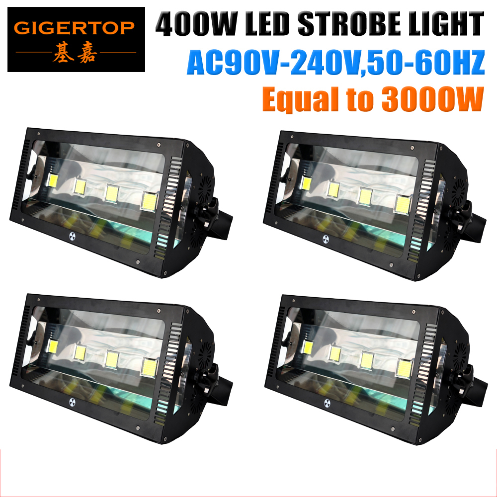TIPTOP Stage Light 4XLOT DMX 512 3IN/5PIN 400W Led Stage Strobe Light 4 Control Mode Stage Performances Wedding Bar Disco Light  tiptop sunny 512 dmx stage light controller black color dmx in out equipped led lamp optical isolated independent drive