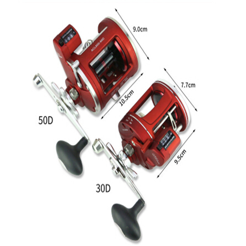 Image 3 - New Metal Left/Right Handle Casting Sea Fishing Reel Baitcasting Reel Coil 12 Ball Bearings Cast Drum Wheel With Digital Display-in Fishing Reels from Sports & Entertainment