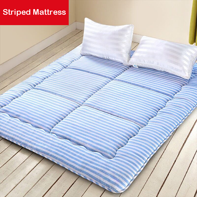 Infant Shining 4CM Mattress Breathable Striped Mattress Single And Double People Bed Mattress 150CM Student Dormitory Rug цена 2017