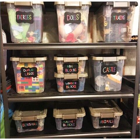 cozinha jar organizador etiquetas de vidro removivel