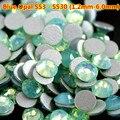 Free Shipping 1440pcs Green Opal Rhinestones ss3 Flatback Non Hotfix Nail Opal Stone Strass swarovski 3D Nail Art Decoraties