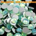 Free Shipping Good Feedback 1440pcs/Bag Green Protein Rhinestones for Nails Swarovski Crystals 3D Nail Art Christmas Decorations