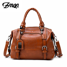 ZMQN Brand Women Bag 2017 Vintage Shoulder Bags Sequined Women Handbags Designer Leather Crossbody Bags Ladies Boston Cheap C608