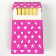 Оптовая продажа, чехол для сигареты с розовой звездой, чехол для сигарет для мужчин и женщин, аксессуары для курения, силиконовая коробка дл...