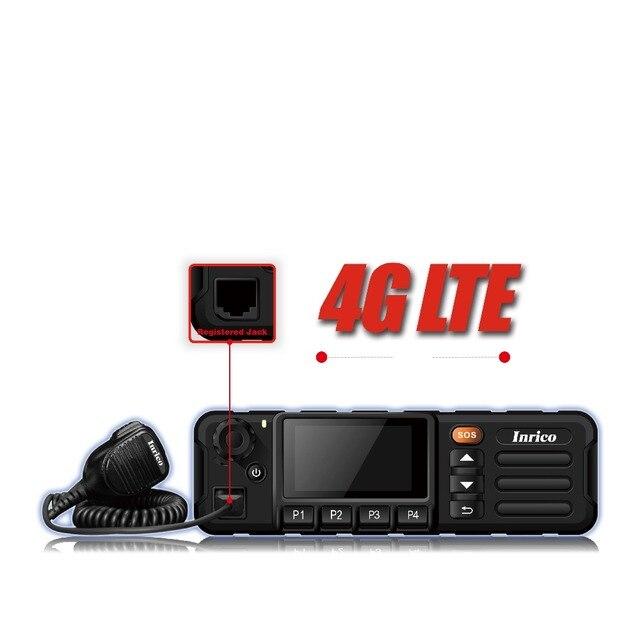 Walkie talkie 50 km 4g rede estação de rádio do carro mais novo lte wcdma gsm wifi bluetooth gps rádio do carro móvel com tela de toque sim