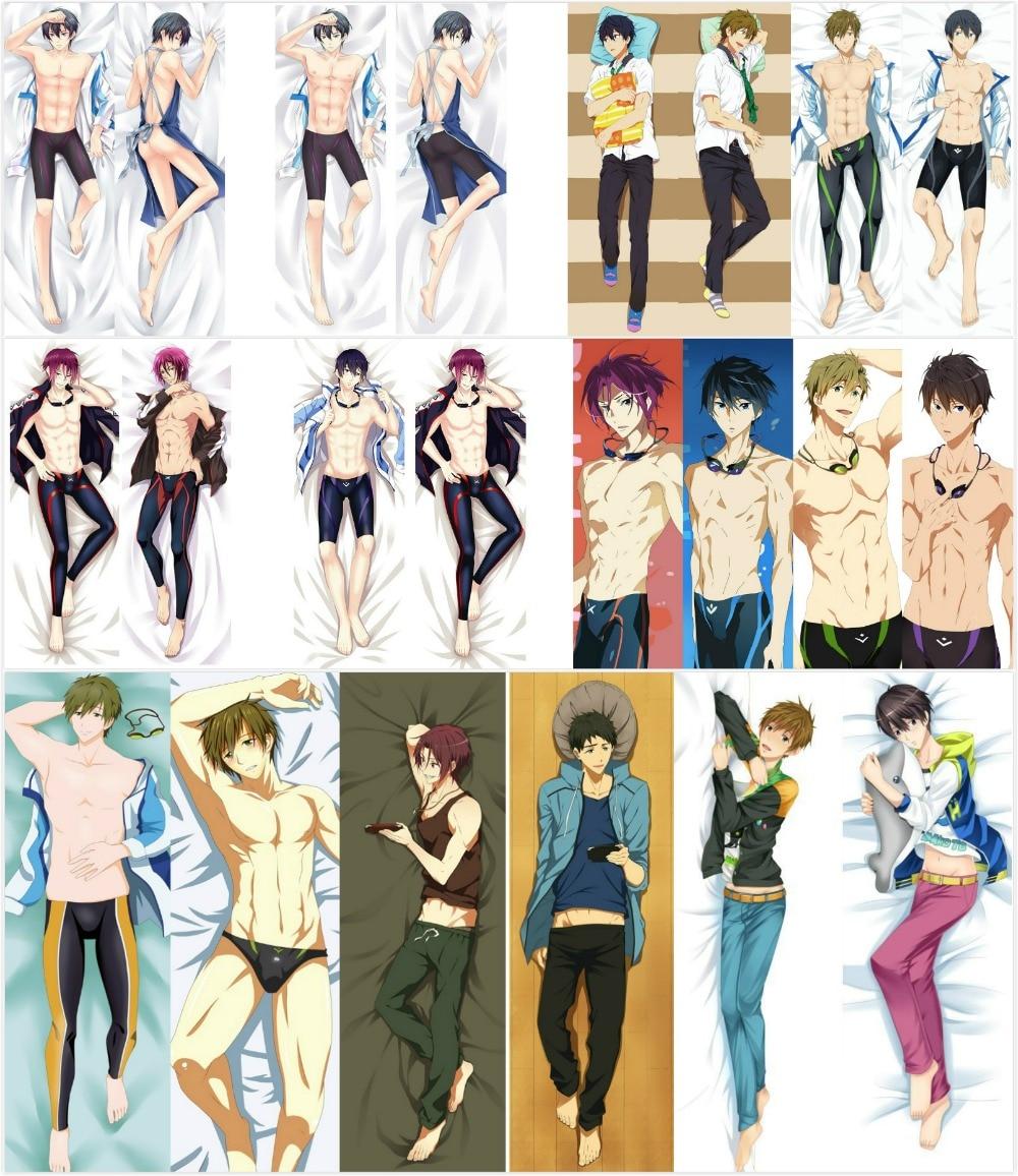 Japanese Anime Free! Iwatobi Swim Club Haruka BL Hugging Body Dakimakura Pillow Cover Case Dropshipping Pilllowcase Covers