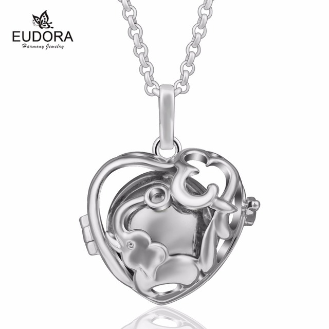 Eudora new elephant cage pendant with silver plated chime ball angel eudora new elephant cage pendant with silver plated chime ball angel caller harmony bola ball for mozeypictures Choice Image
