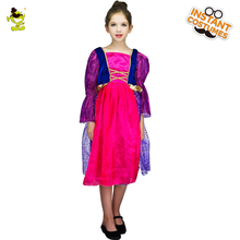 2017 Pretty Princess Dresses Costumes Children Anime Character Elsa Anna Role Play Clothing for Beautiful Kids