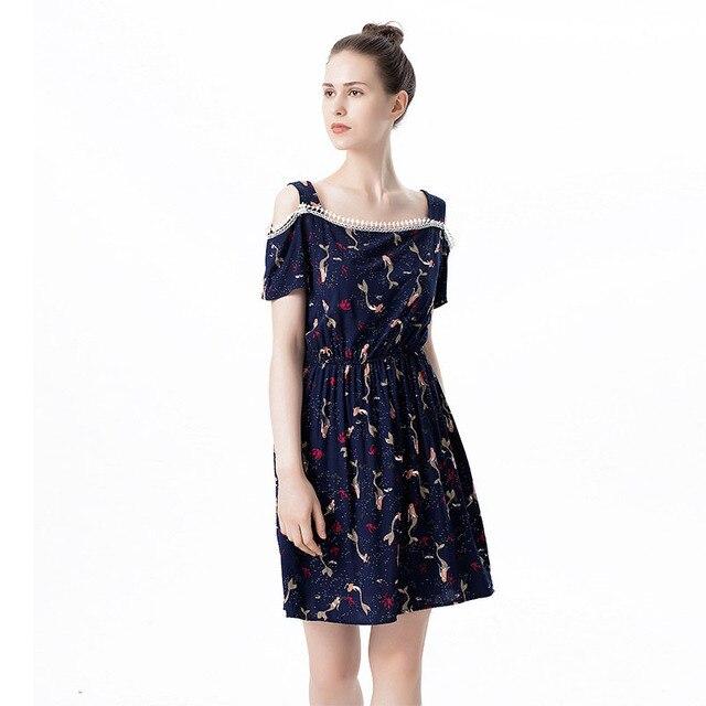 cc4d7b463a2 Mignon Pas Cher Vêtements Femmes Floral Coton À Manches Courtes Robe  Dentelle Fringe Mini Robe Pour