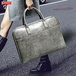 Neue Echtes leder Frauen handtaschen damen 14 zoll laptop tasche offizielle business aktentasche Glatte leder schulter umhängetaschen