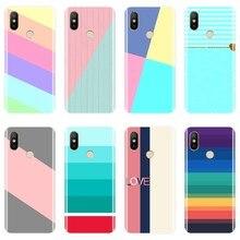 Розовый чехол в полоску для телефона Xiaomi MiA1 MIA2 Mi8, Мягкая силиконовая задняя крышка для Xiaomi Mi A1 A2 Lite 8 SE 5 5C 5S 5X 6 6X Plus