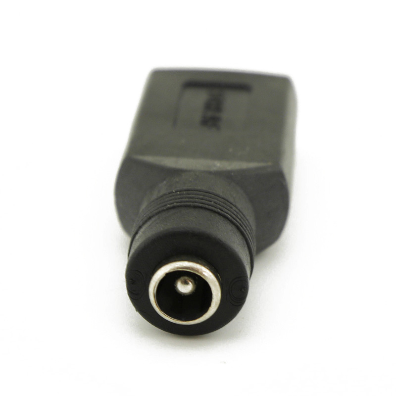 USB Female To 5.5mm x 2.1mm Female DC Power Converter Charger Adapter Connector