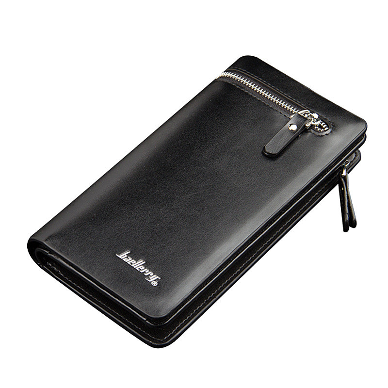 цены Wallet Men Leather Men Wallets Business Brand Card holder Coin Purse Men's Long Zipper Wallet Leather Clutch carteira masculina