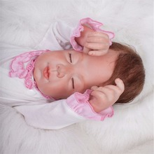 20 inch 50 cm Silicone baby reborn dolls, lifelike doll reborn Beautiful clothes and cute sleeping baby