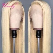 Парик блонд 13x 4/13x6 из человеческих волос на сетке спереди, плотность 150%, бразильский прямой парик на сетке спереди 613, парик на сетке спереди, ...