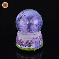Wrラブリーベアーズ手作りオルゴールカスタマイズされた紫水晶玉の装飾品金属工芸用クリスマスギフト8セン