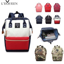 LEQUEEN Brand Fashion Maternity Diaper Bag Backpack Lady Large Capacity Mummy Waterproof Travel Care