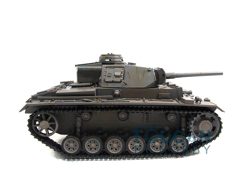 100% Metal Mato 1/16 Panzer III RC RTR Tank Model Infrared Version Gray 1223 mato 100