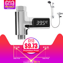 LED Display Home Water Shower Thermometer Flow Self-Generating Electricity Water Temperature Meter Monitor for Baby Care(China)