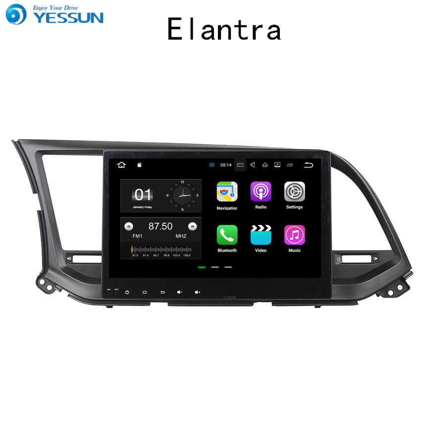 YESSUN Android Car Navigation GPS For Hyundai Elantra 2016~2017 Audio Video HD Touch Screen Stereo Multimedia Player No CD DVD yessun android car navigation gps for hyundai santa fe 2006 2012 audio video hd touch screen stereo multimedia player no cd dvd