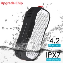 CRDC Bluetooth Outdoor Waterproof Speaker with Enhanced Bass – Dual 5W Drivers/A2DP/30-Hour Playtime