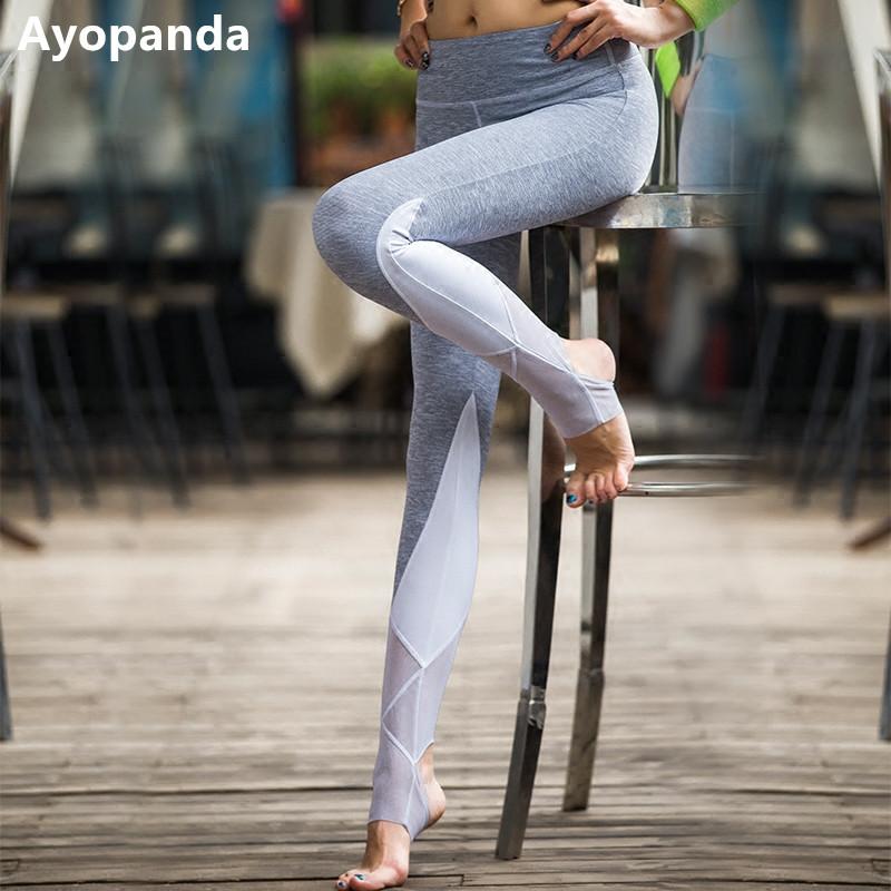 Prix pour Ayopanda femmes automne leggings yoga pantalon taille haute pied serré sport pantalon maille respirant floral imprimé leggings pour la danse