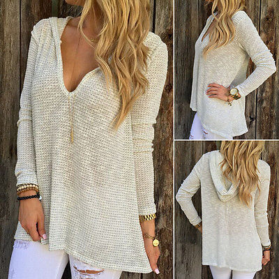 Women Ladies Chunky Knitted Oversized Baggy Sweater Jumper Tops ...