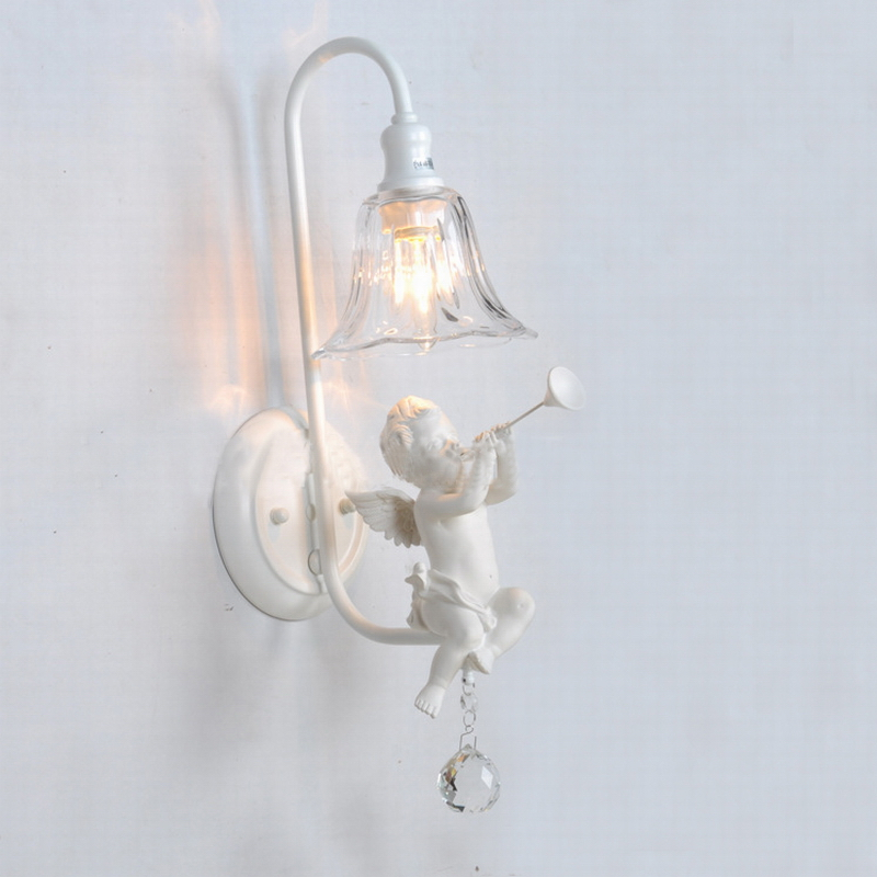 Bathroom Vanity Lights/fashional modern white angel wall lamp/white wall lamps lighting fixture