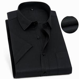 Image 2 - الرجال قصيرة الأكمام قميص كبير حجم كبير 10XL 11XL 12XL 13XL 14XL مكتب الأعمال الصيف مريحة التلبيب قميص أحمر 8XL 9XL