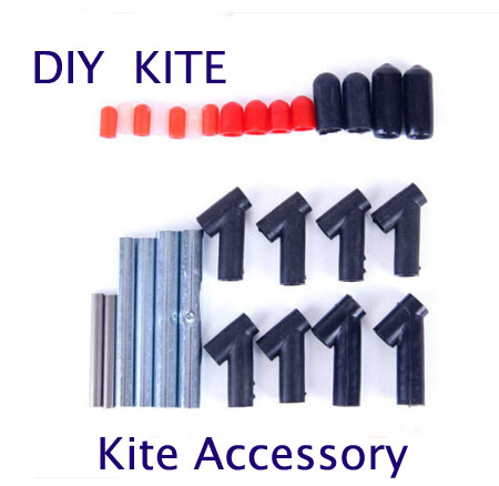 Free Shipping High Quality Diy Kite Accessory 30pcs/lot Tee Stunt Kite Rod Windsock Kite Nylon Kite Parafoil Octopus Kite String
