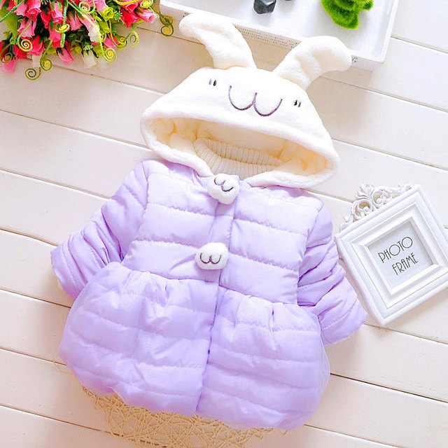 New 2017 Baby Girls Coat Winter Autumn Flower Baby Girl Jackets Lovely Princess Newborn Outerwear Clothes For Birthday Gift