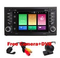 Grátis Camera + dvr 1024*600 HD 8 Núcleo Android 6.0 Jogador Do Carro DVD para Audi A4 2002-2007 8F B9 RS4 S4 8E B7 Rádio Wi-fi 4G 2G Ram SD