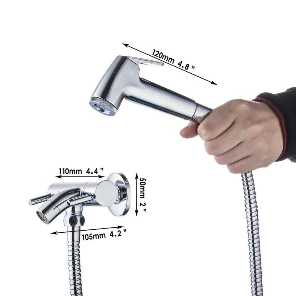 e pak Chrome Finish Handheld Bidet Faucet Spray Shower Set Toilet ...