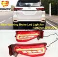 Remessa livre LED Rear Bumper Luz, luzes de advertência, luz de nevoeiro traseira, Luz de freio, turn signal para FORTUNER 2015 2016