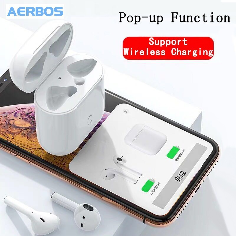 AERBOS Deep Bass True Mini Bluetooth 5.0 Wireless Earphone PK I12 <font><b>Tws</b></font> Vs I10 Mini Support Wireless Charging Headphones image