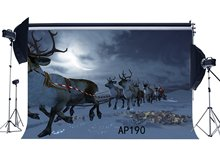 Photography Backdrops Christmas Theme Reindeer Moon Newborn Baby Toddlers Adults Merry Christmas Portraits Background