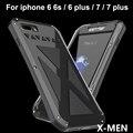 Nova-apenas r x-men waterproof case para iphone 7 7 plus 6 6 s 6 plus caso de telefone de metal casos para iphone 7 tampa saco do telefone caso