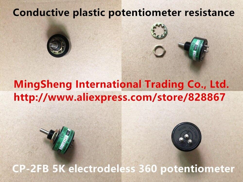 Nouveau potentiomètre en plastique conducteur 100% japon résistance CP-2FB 5 K potentiomètre 360 sans électrode (interrupteur)