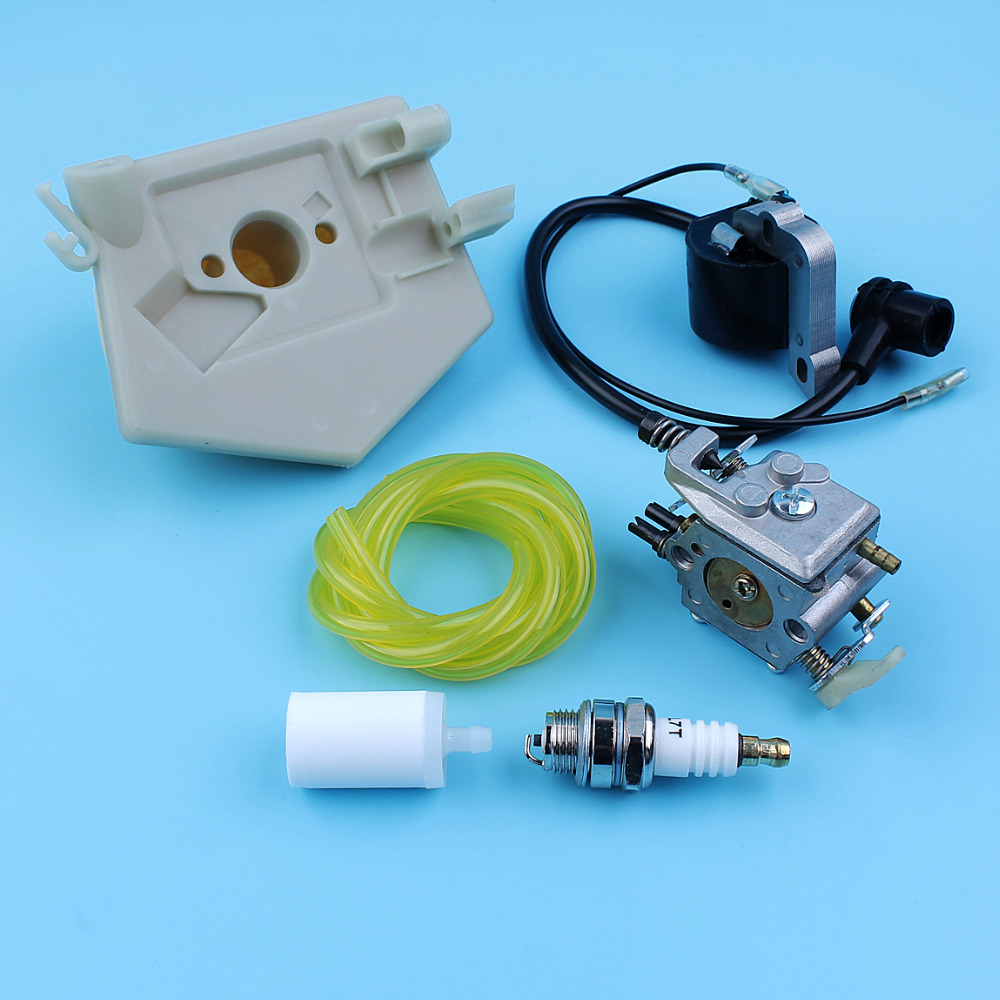 Fuel Coil Module Ignition Husqvarna Filter Air For 51 WT Rancher Carburetor 55 Chainsaw 503281504 Walbro Kit 170