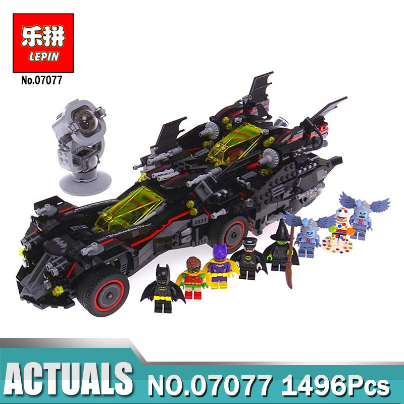 legoe Batman 07077 Marvel Super Heroes Genuine Movie The Ultimate Batmobile Building Blocks Bricks Toys Compatible Legoing 70917 lepin 07056 775pcs super heroes movie blocks the scuttler toys for children building blocks compatible legoe batman 70908